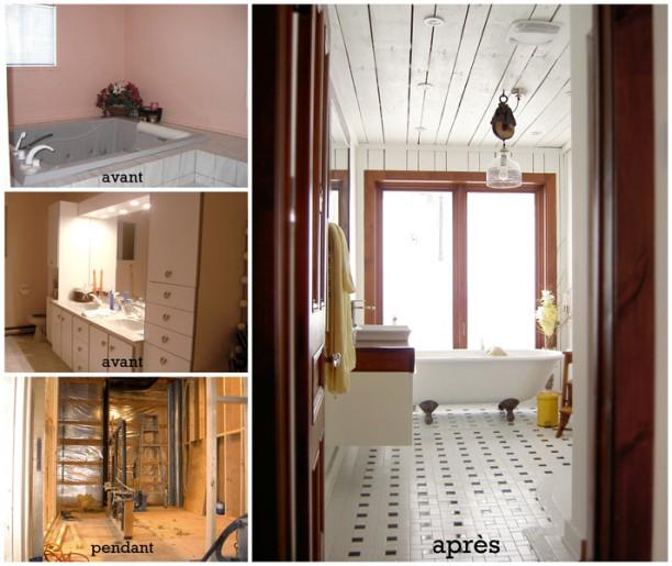 Etapes rénovation de la salle de bain
